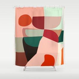 Geometric shapes Shower Curtain