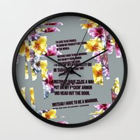 warrior Wall Clocks featuring warrior by gasponce
