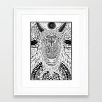 baphomet Framed Art Prints featuring Baphomet by Christopher Worker
