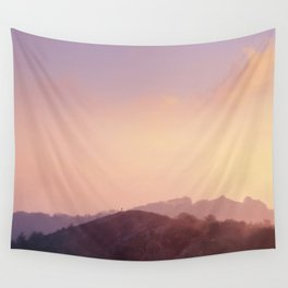 Alone at Sunset Wall Tapestry