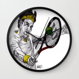 Tennis Federer Wall Clock