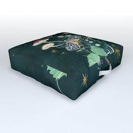 Mushroom night moth Outdoor Floor Cushion