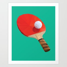 Ping Pong Paddle polygon art Art Print