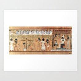 """Ghosts in Judgment Hall of Osiris"" Art Print"