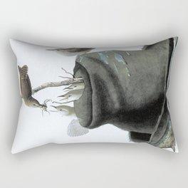 House Wren - John James Audubon Rectangular Pillow