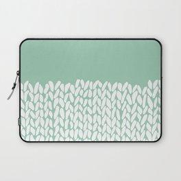 Half Knit Mint Laptop Sleeve