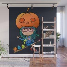 Kawaii Halloween Girls Wall Mural