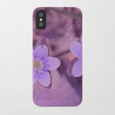 Purple Spring Flowers iPhone X Slim Case