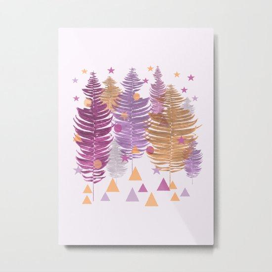 Christmas Trees #buyart #Christmas #Society6 Metal Print