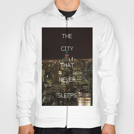 New York, New York. Hoody