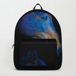 His Quiet Place II - Black Thoroughbred Percheron Backpack