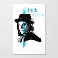jack white Canvas Prints featuring Jack White by nufertity