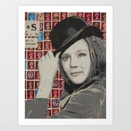 Stamps Paris Art Print