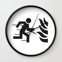 Notausgang Wall Clock