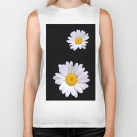 daisy Biker Tanks featuring Daisy  by Cozmic Photos