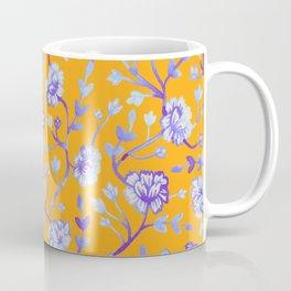 Watercolor Peonies - Sapphire Marigold Coffee Mug