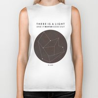 nan lawson Biker Tanks featuring There Is A Light by Nan Lawson