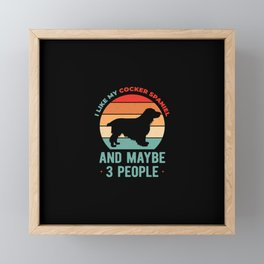 Cocker Spaniel Funny Framed Mini Art Print