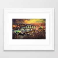 prague Framed Art Prints featuring Prague by Taylan Soyturk