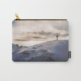 Christian Cross On Mountain Carry-All Pouch