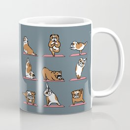 English Bulldog Yoga Coffee Mug