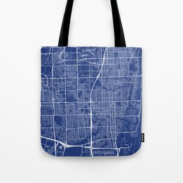 Fort Lauderdale Map, USA - Blue Tote Bag