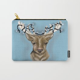 Deer head with string lights Carry-All Pouch