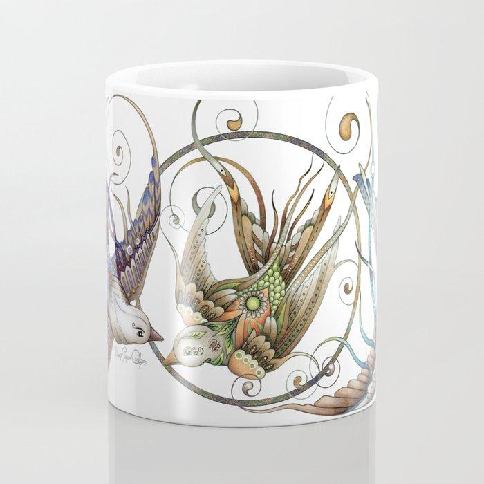 Circle Birds Coffee Mug