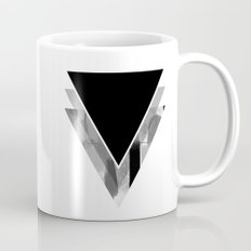 Three Triangles Geometric in B&W Mug