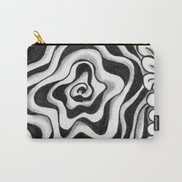 Doodled Rose & Vine Carry-All Pouch