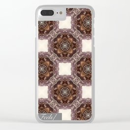 Classical pattern Clear iPhone Case
