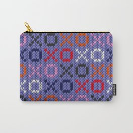 XOXO pattern - blue Carry-All Pouch