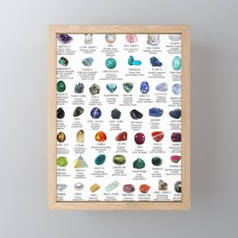 crystals gemstones identification Framed Mini Art Print