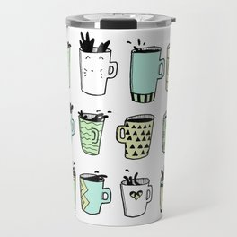 Twelve Cups of Coffee Travel Mug