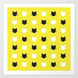 Cat Pattern 04 Art Print
