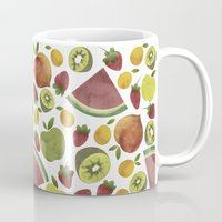 fruits Mugs featuring fruits by Ana Rey