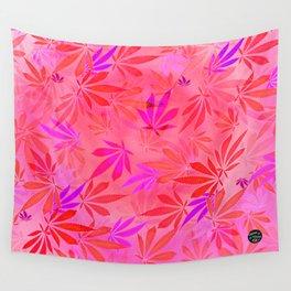 Blush Cannabis Swirl Wall Tapestry