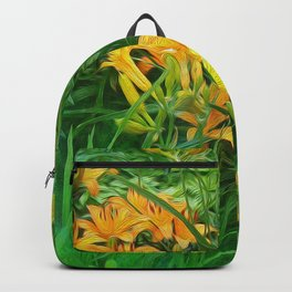 Day-glo Lilies Backpack