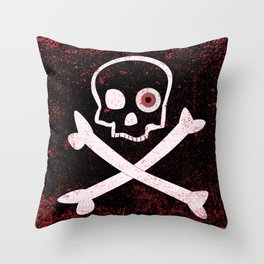 Jolly Roger With Eyeballs Throw Pillow