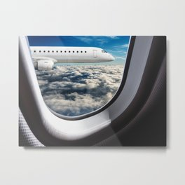 flying from the airplane Metal Print