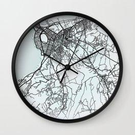 Tripoli, Lebanon, White, City, Map Wall Clock