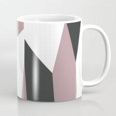 Gray Pink and White abstract Mug