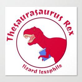 Thesaurasaurus Rex Canvas Print