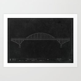 Fremont Bridge - Darkprint Art Print