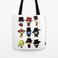 anime Tote Bags featuring Anime Hatters by artwaste
