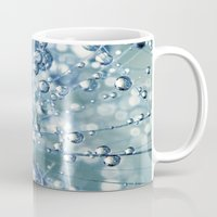 mandie manzano Mugs featuring Sparkling Dandy in Blue by Sharon Johnstone
