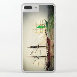 Race with me. Clear iPhone Case