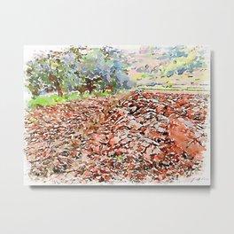 Hortus Conclusus: plowed field Metal Print