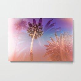 Palm Trees Kissing the Sky Metal Print