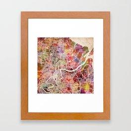 Brisbane Framed Art Print